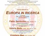 ciclo di seminari su Europa in ricerca